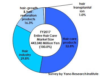 FY2017 Composition Ratio of Hair Care Market by Category