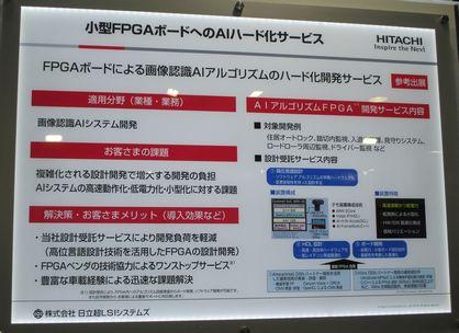 【写真:日立超LSI「FPGAボードへのAIハード化サービス」】